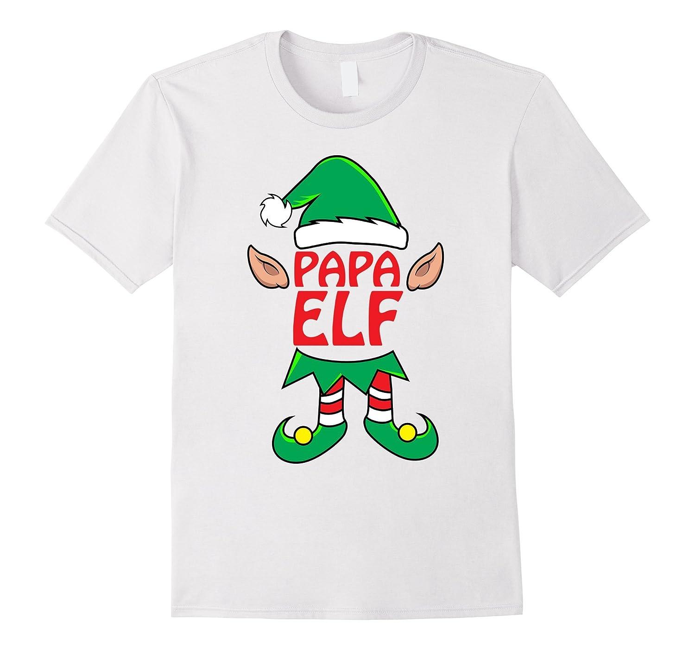 775faf117a43 Papa ELF T-Shirt Dad Mom Family Matching Christmas Tee-TD – Teedep