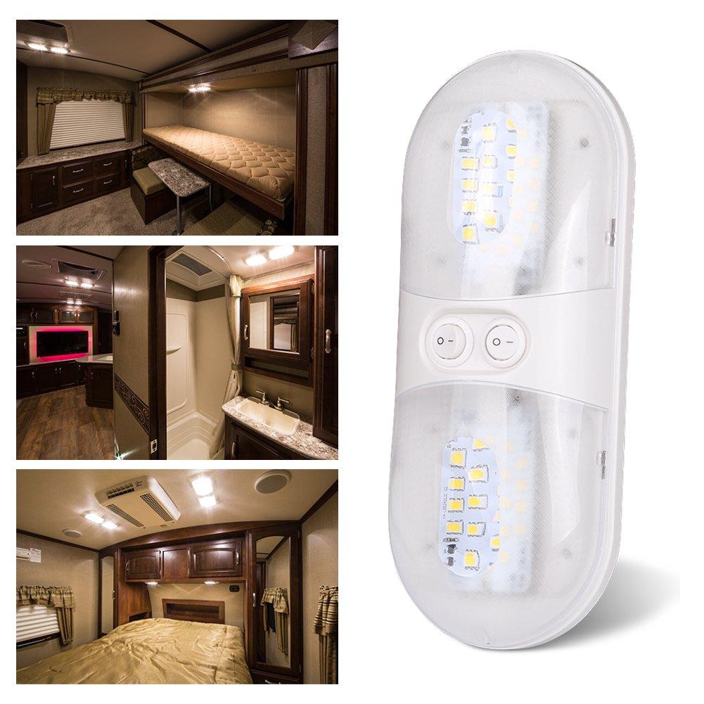 Kohree Deckenleuchte Dome LED-Lampe naturwei/ß 5050/SMD LEDs f/ür Wohnmobil Boot Wohnwagen. Gl/ühbirnen 12/V