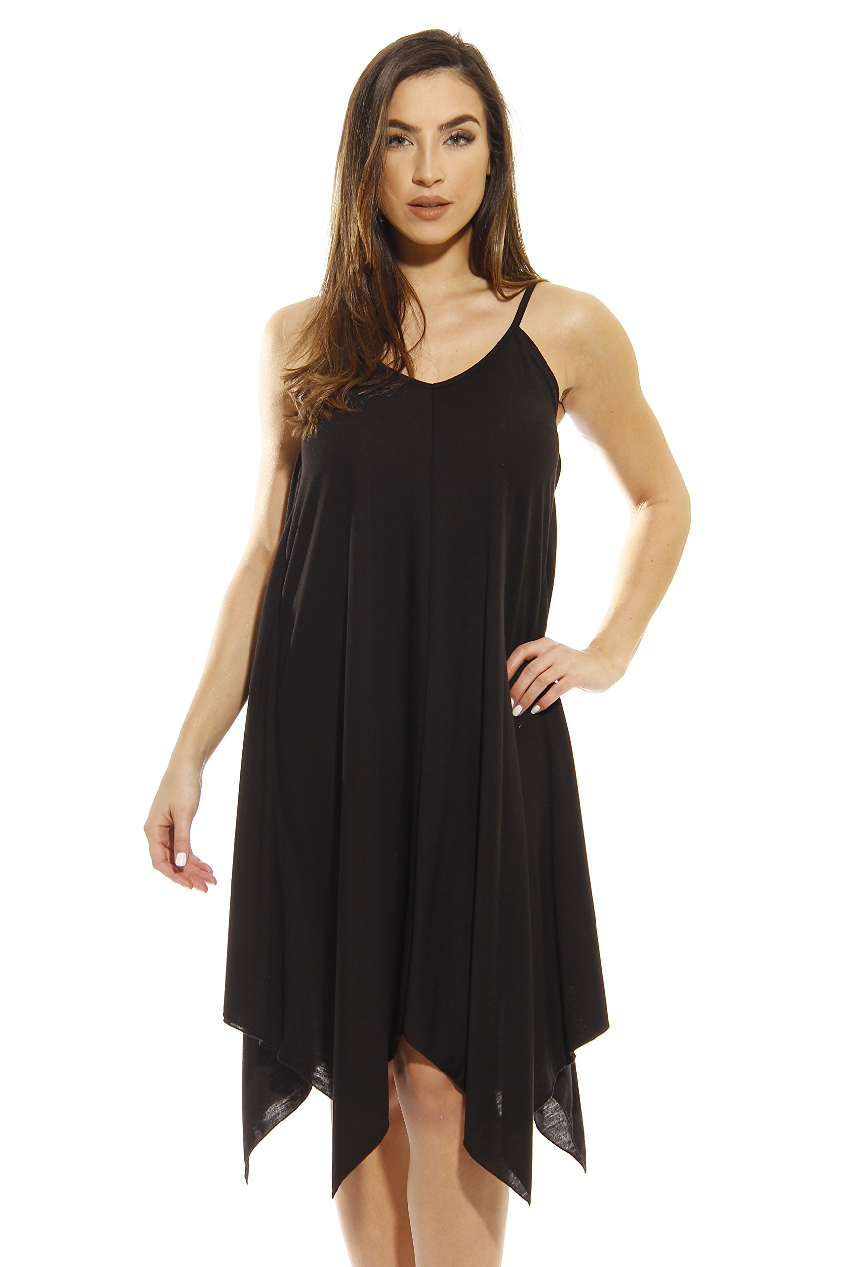 0dc5dd0ebc6 Galleon - 401118-BLK-3X Just Love Summer Dresses   Handkerchief Dress