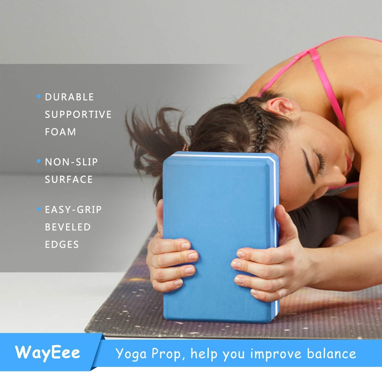 WayEee Yogablock Yogaklotz 2 St/ücke Yoga Bl/öcke mit 1.8m Yogagurt Stabil und rutschfest Yoga und Pilates Yogaklotz f/ür Anf/änger und Fortgeschrittene
