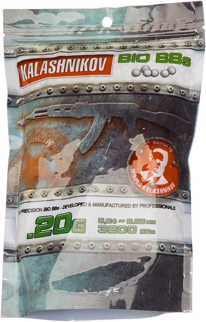 Kalashnikov - Balines biodegradables para Pistola de Bolas (3200 Unidades, 0,20 g)