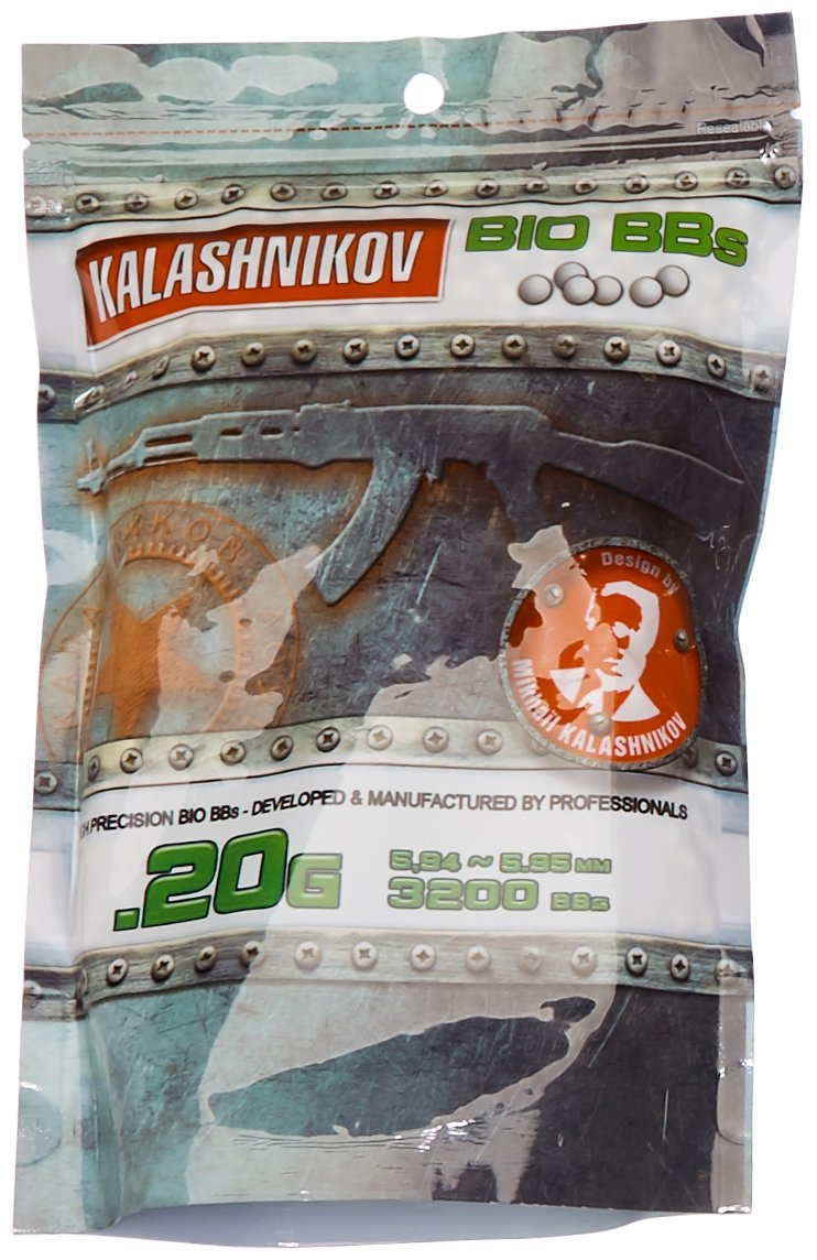 KALASHNIKOV Billes biodégradable Sac de 3200 BB's 0, 20 g