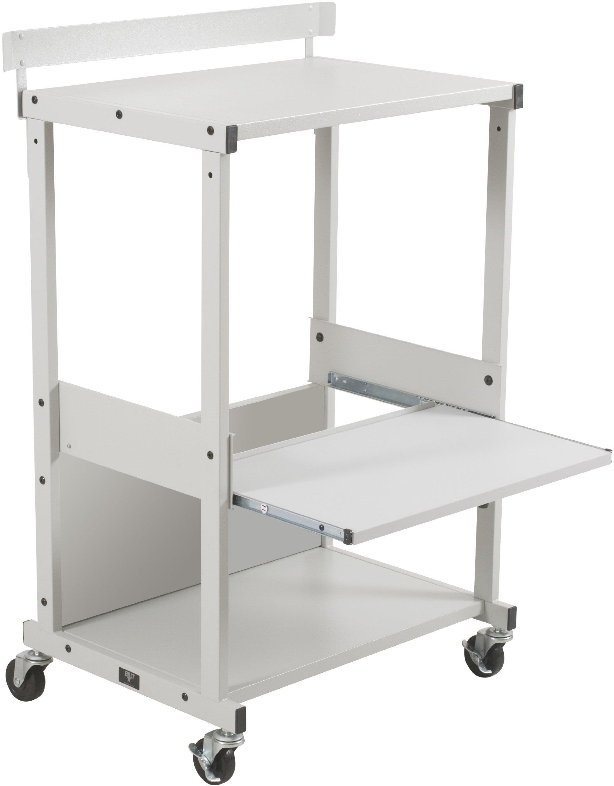 Balt Max Stax Stand Up Workstation Or Dual Printer/Fax Machine Stand, Gray Podwer Coat Finish, 42.5'' H x 25.13'' W x 20'' D (25983) by Balt