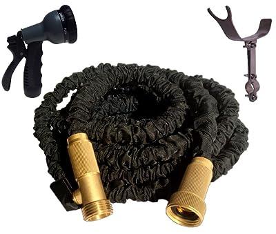 50 Foot Black Expandable Garden Hose, Strongest Expanding Garden Hose
