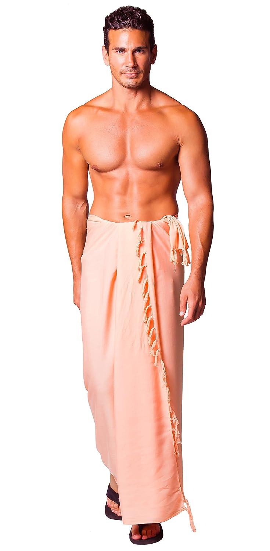 1 World Sarongs Uomo Pareo Tinta Unita