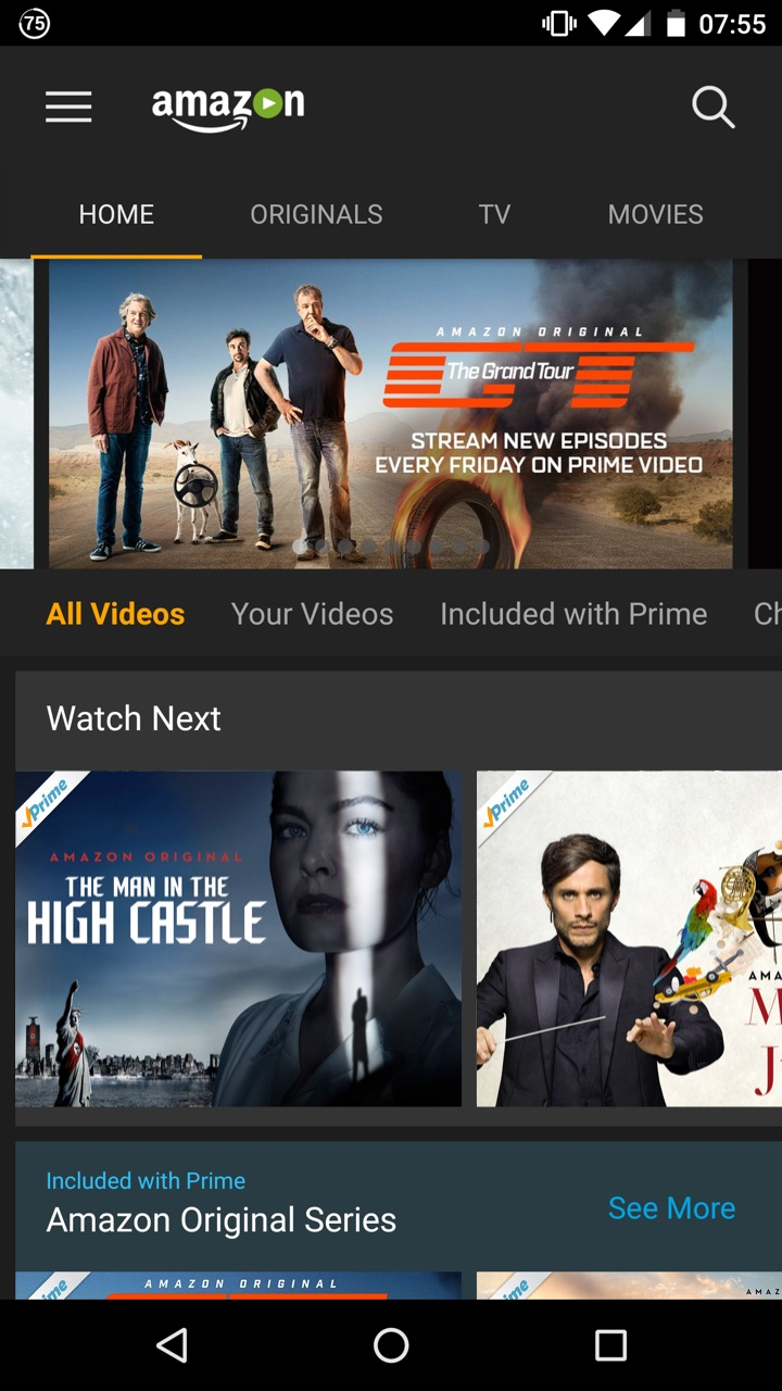Phone Movie Sites For Android Phones amazon com prime video appstore for android 000