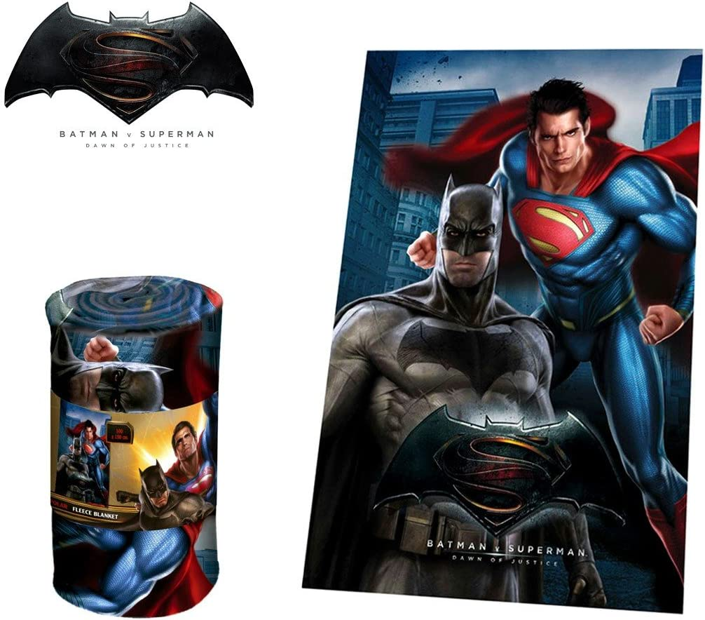 WA16030 Manta polar con motivo BATMAN VS SUPERMAN 100 x 150 cm