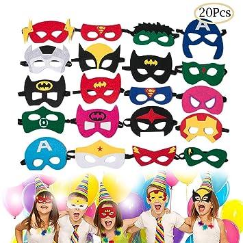 Amazon.com: VERVES Máscaras de superhéroe para niños ...