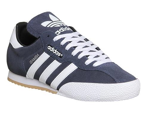 adidas Hombre Sam Super Suede Zapatillas - Azul marino/Blanco, hombre, 8 UK / 42 EU