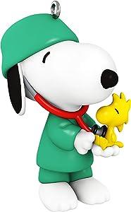 Hallmark Keepsake Christmas Ornament 2020, Peanuts Spotlight on Snoopy Doctor