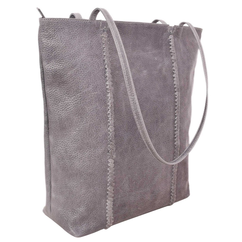 Latico Leathers Camden Tote Genuine Authentic Luxury Leather, Designer Made, Business Fashion and Casual Wear, Pebble Denim