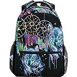 7ef8059b6bbe Amazon.com: Backpack Travel Dream Catcher Black Galaxy School ...