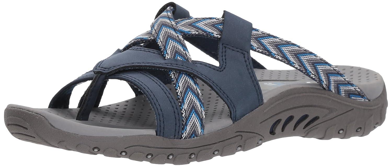 a43252fae6ad Skechers Women s Reggae-Soundproof-Thong Slide Multi-Strap Sandal  Amazon.co .uk  Shoes   Bags
