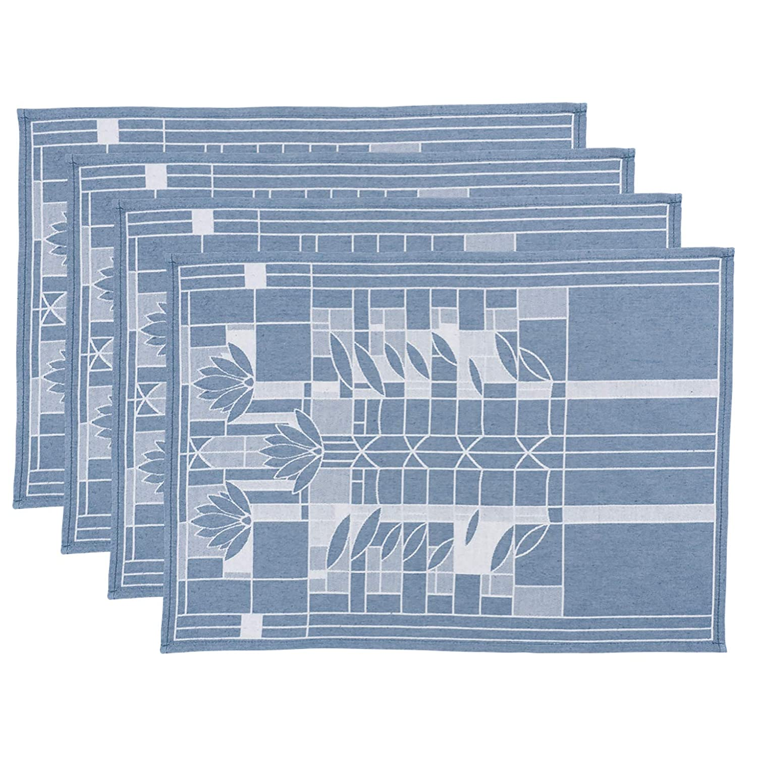 Tree of Life KAF Home Frank Lloyd Wright Woven Jacquard Table Placemat 13 x 17-inch 100-Percent Cotton Set of 4