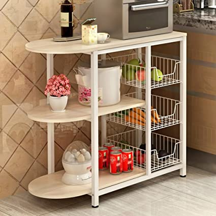 Amazon.com: ZGL Kitchen Storage Rack Multi-function Kitchen ...