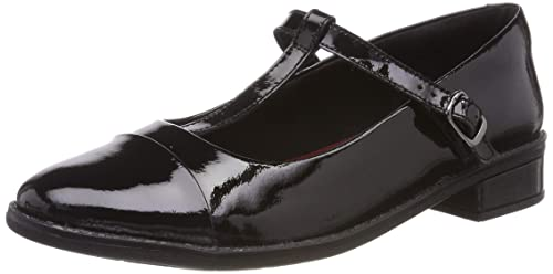 20e9e42324e Clarks Girls' Drew Shine Ballet Flats, (Black Patent Leather-), 1