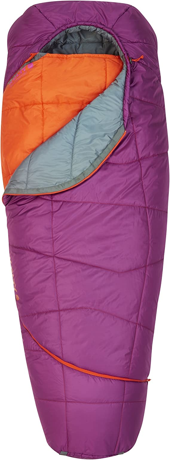 Kelty Women's TRU Comfort 20 Degree Sleeping Bag, Grape JuiceFire Orange