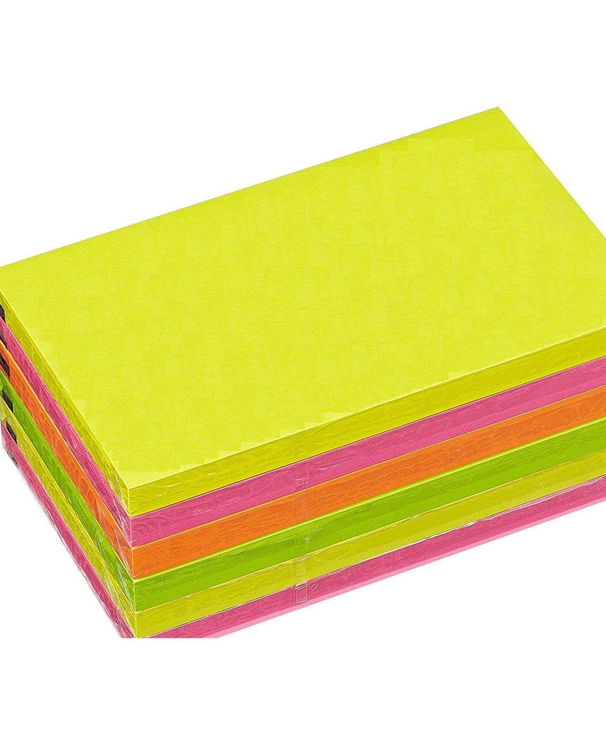 Nice Style Sticky note Cube 127 x 76 MM Sticky notes – neon/6 pezzi, colori assortiti, 100 fogli G4GADGET