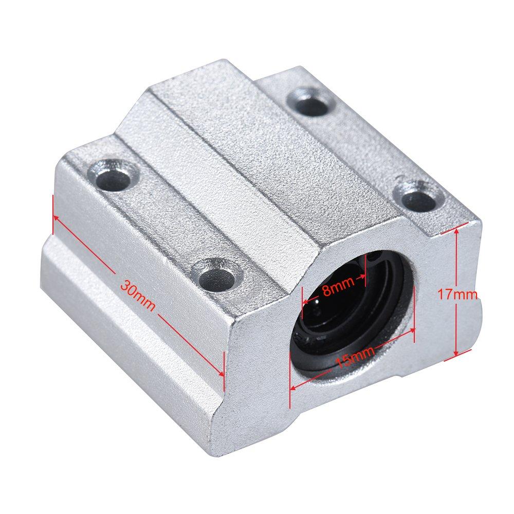 Aibecy 5x Linear Motion Ball Bearing SCS8UU 8mm 3D Stampante Accessori Blocco CNC Router Slide Unit RepRap DIY Kit Parti