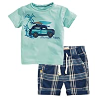 Jobakids Little Boys' Summer Cotton Short Sleeve Clothing Sets