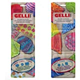 Gelli Arts Minis - Set of 6 Mini Gel Printing Plates (Round, Square, Triangle, Oval, Rectangle, & Hexagon) (Bundle)