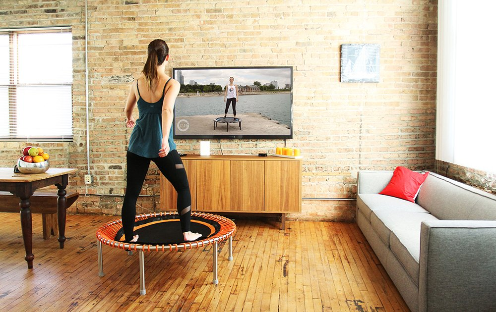 bellicon Classic 44 Exercise Trampoline with Screw-in Legs – Made in Germany – Best Bounce – 60 Day Online Workout Program Included