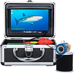 Underwater Fishing Camera, Anysun Portable Fish Finder Camera with 7'' Color LCD Monitor HD1080P Waterproof IP68 Underwater Viewing System (30m/100ft+DVR)