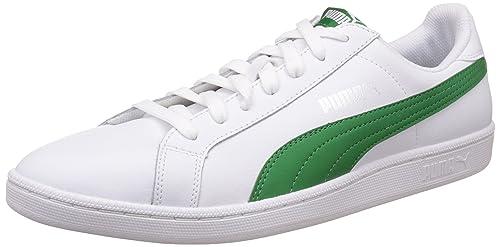 7437e3c01e7 Puma Men s Smash L White and Amazon Green Sneakers - 11 UK India (46