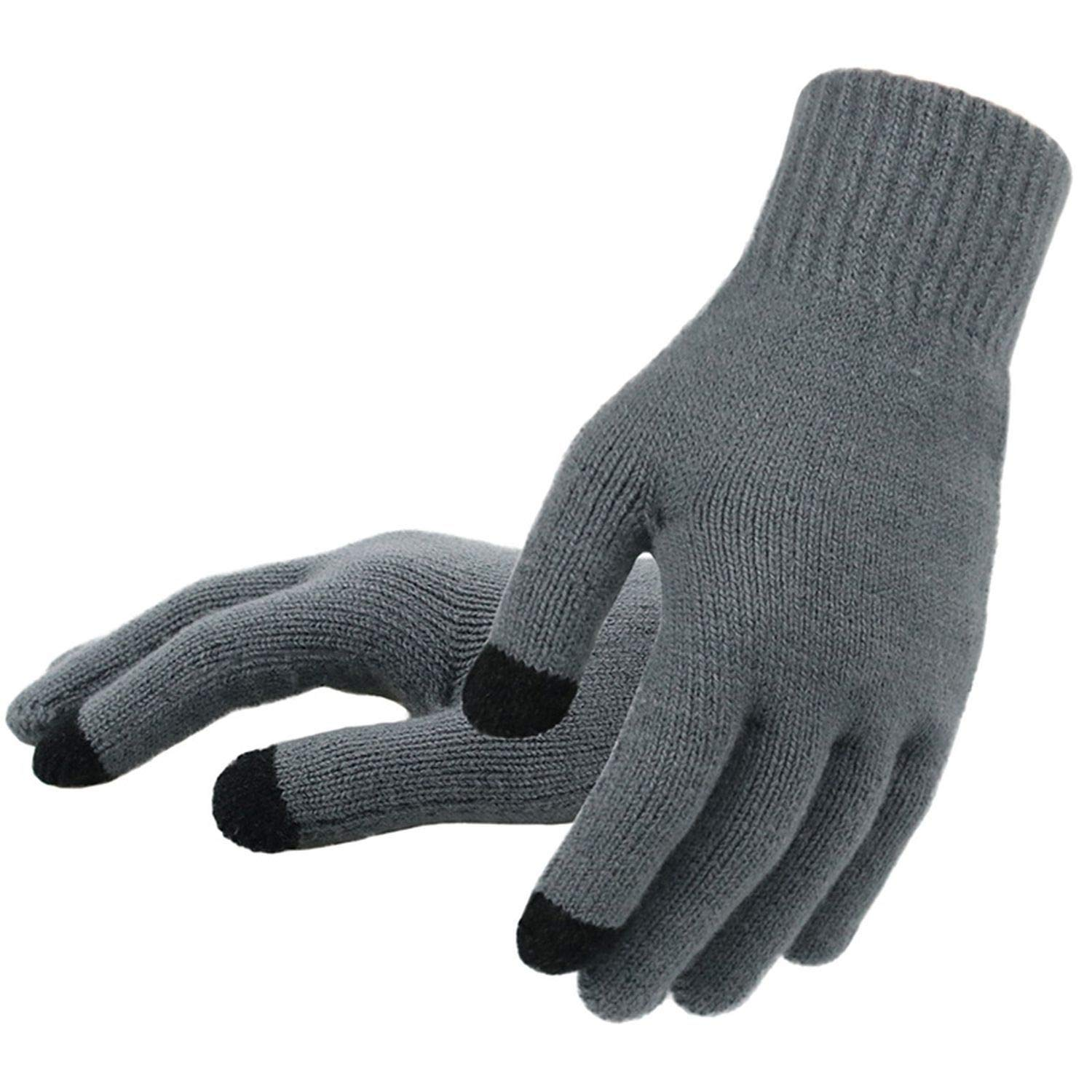 Mens Knitted Gloves Winter Autumn Male Touch Screen Gloves