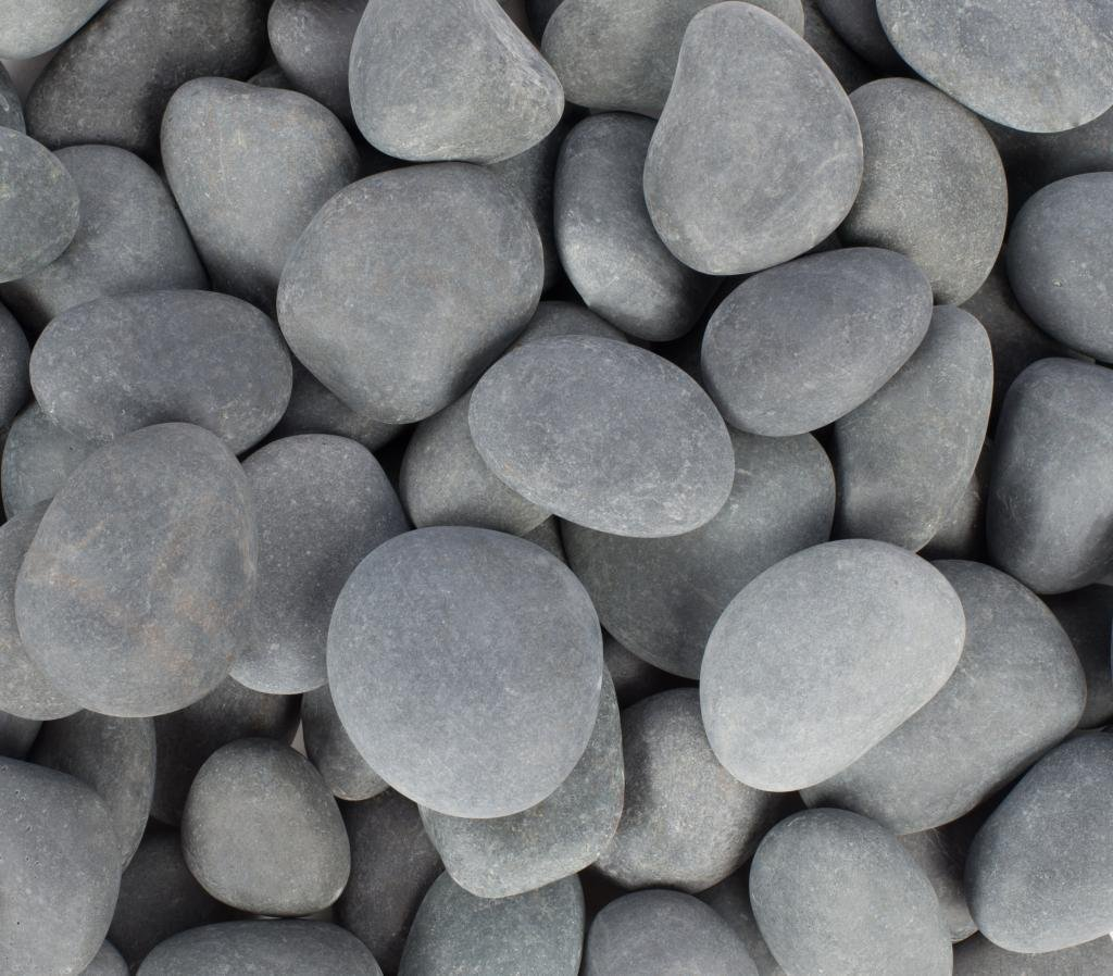 Margo 30lb.Small Mexican Beach Pebble 1 in. to 2 in. (30 lb - 3 Packs, Mexican Grey) by Rainforest