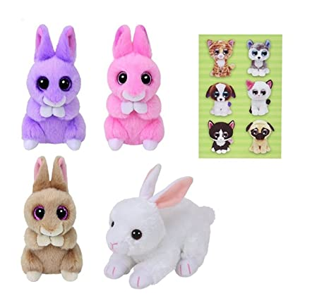 234ab6d94e3 Image Unavailable. Image not available for. Color  Ty Beanie Babies Basket  Beanies Ginger Jasper Cotton and April Bunnies Set