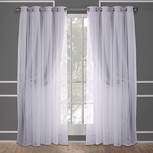 Editors' Choice: Exclusive Home Curtains Catarina Layered Solid Blackout and Sheer Window Curtain Panel Pair