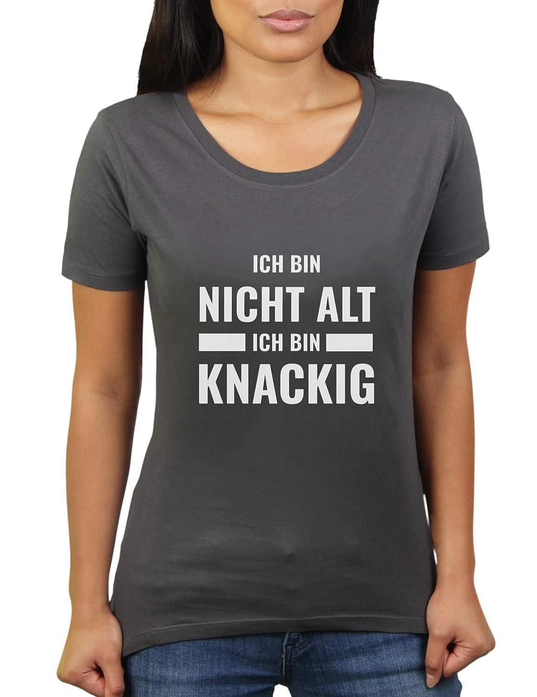 ich bin nicht alt, ich bin knackig damen t shirt von katerlikoli