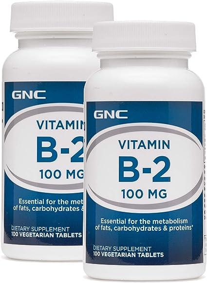 Amazon.com: GNC Vitamin B-2 100 MG - Paquete doble: Health ...