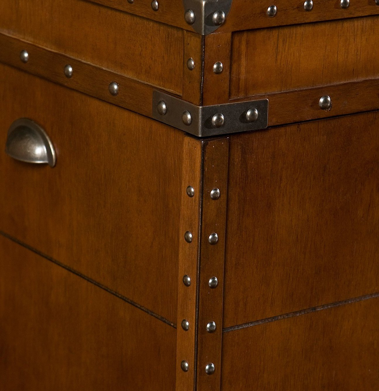Southern Enterprises Steamer Trunk End Table - Rustic Nailhead Trim - Refinded Industrial Style by Southern Enterprises (Image #9)