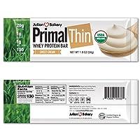 Julian Bakery Primal Thin Protein Bar   Sweet Cream   Organic Grass-Fed Whey   Gluten-Free...
