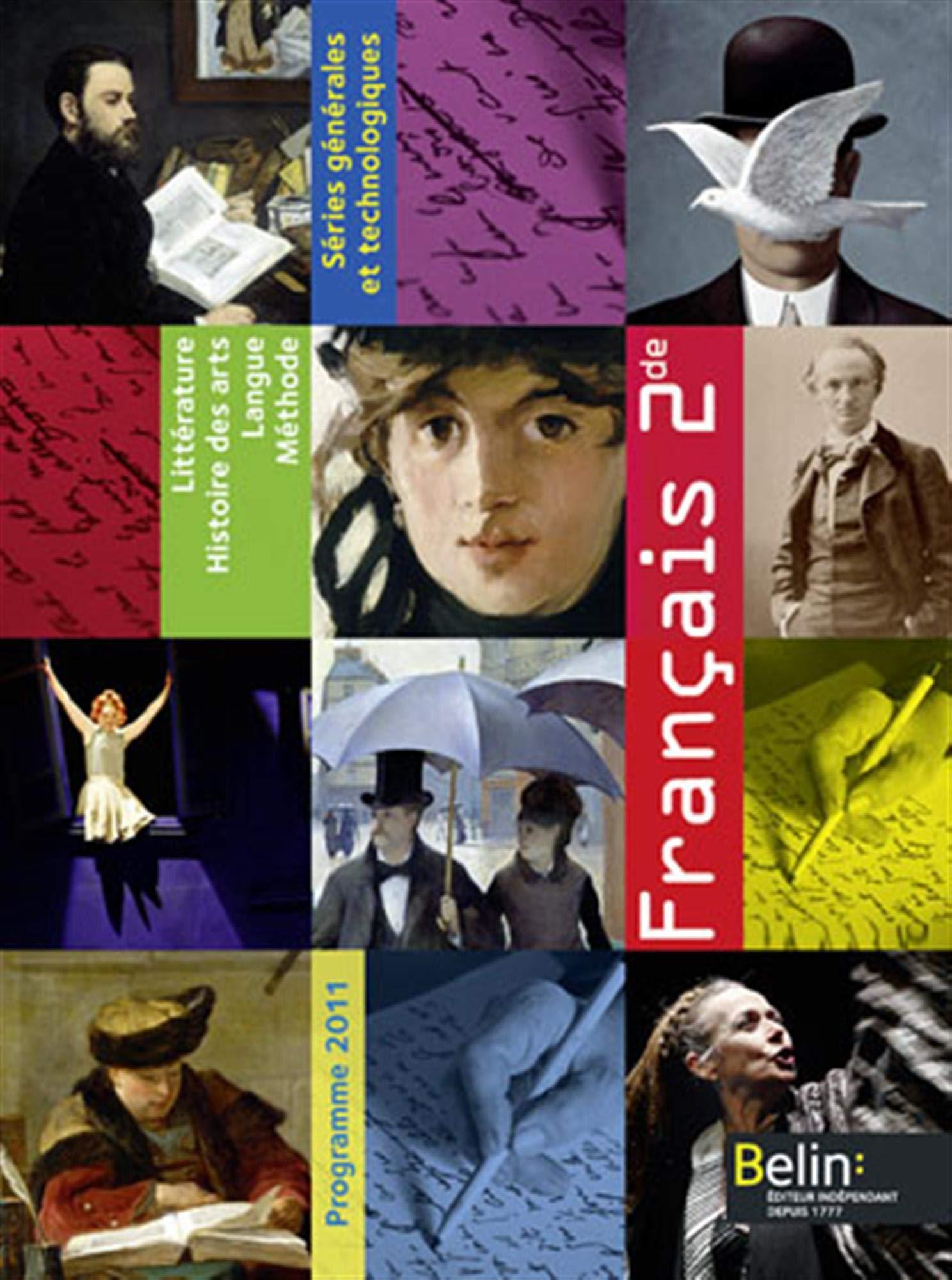 Francais 2nde Livre De L Eleve Edition 2011 Anne Marie