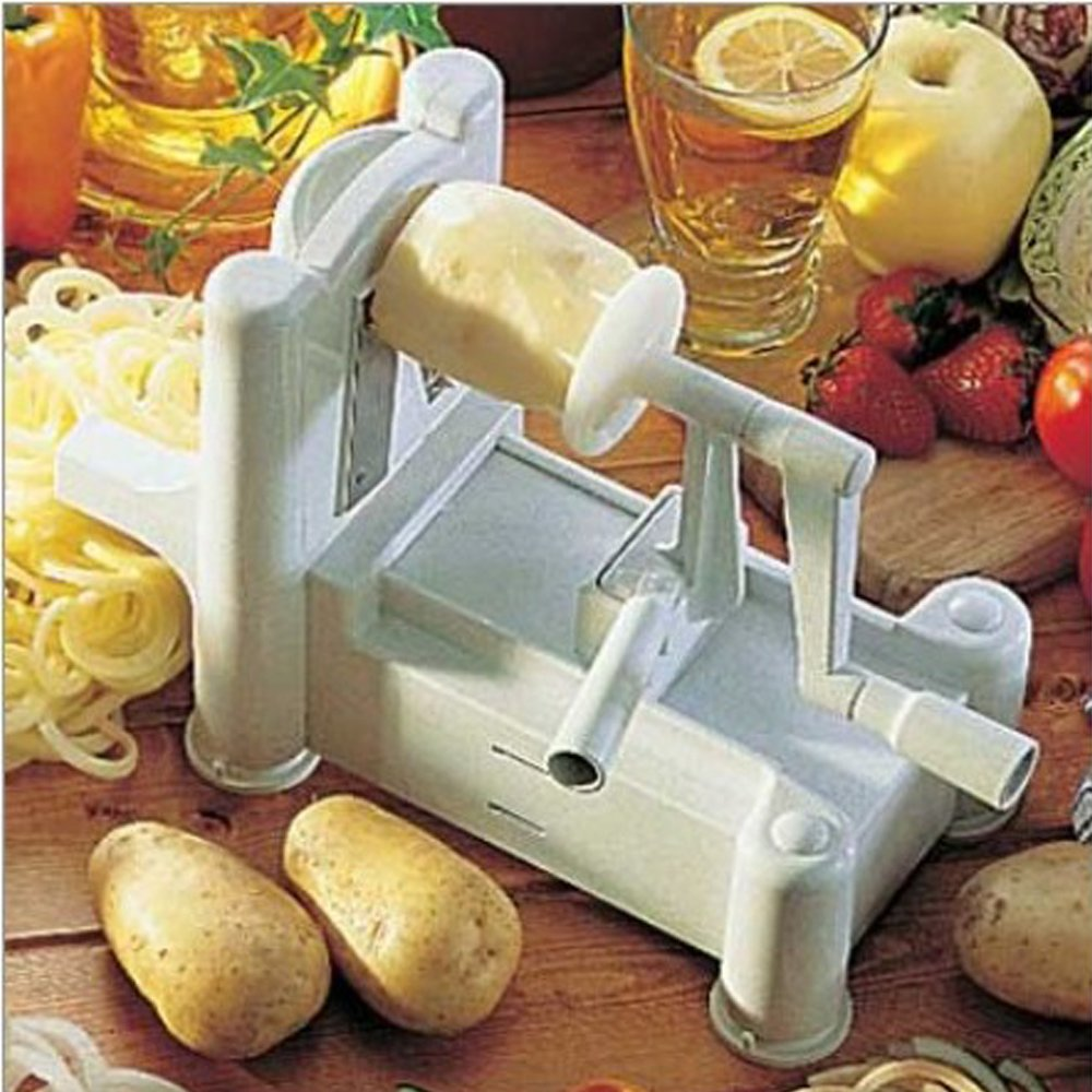 Spiralizer Tri-Blade Vegetable Spiral Slicer, Strongest-Heaviest, Veggie Pasta Spaghetti Maker for Low Carb/Paleo Gluten-Free Meals