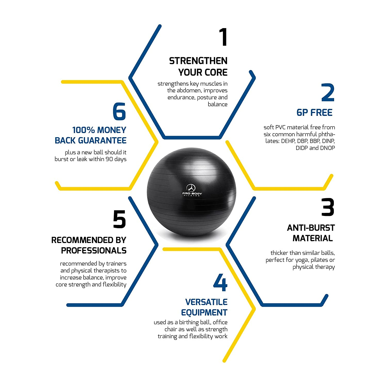 Amazon Exercise Ball Professional Grade Anti Burst Yoga