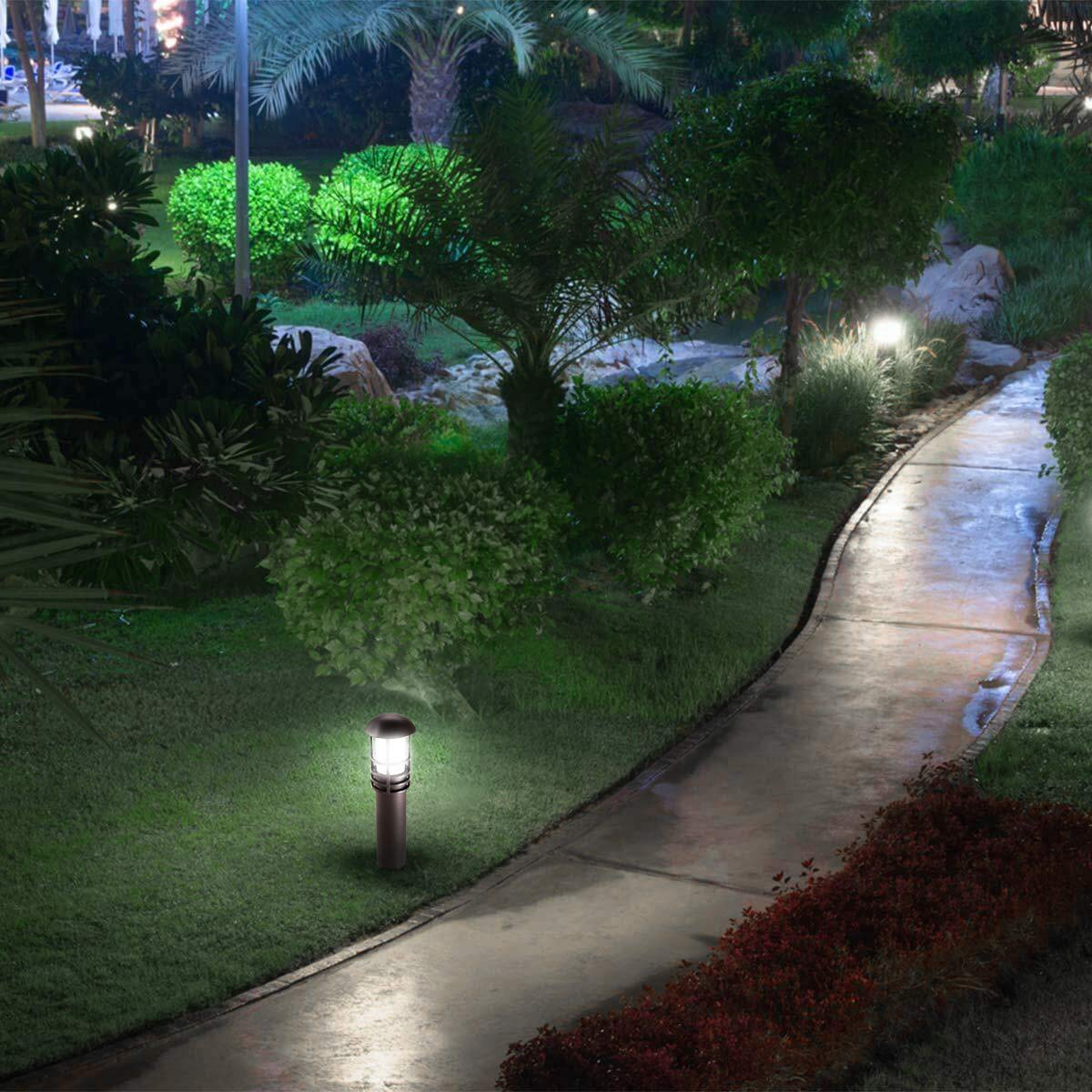 LEONLITE 3W LED Landscape Light, 18W Eqv, 12V Low Voltage, Waterproof, Aluminum Housing with Ground Stake, ETL Listed Outdoor Pathway Garden Yard Patio Lamp, 5000K Daylight, Pack of 12 by LEONLITE (Image #3)