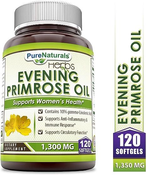 Amazon.com: Pure Naturals Aceite de Onagra con 10% Gla, 1300 ...