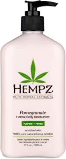 product image for Hempz Pomegranate Herbal Body Moisturizer 17 oz. - Paraben-Free Lotion and Moisturizing Cream for All Skin Types, Anti-Aging Hemp Skin Care Products for Women and Men - Hydrating Gluten-Free Lotions