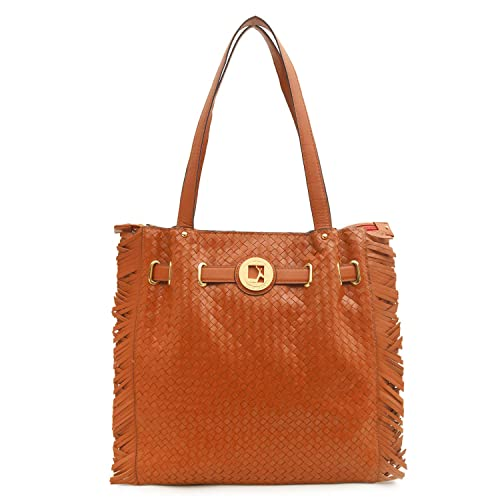Da Milano LB-4341 Cognac Genuine Leather Tote Bag  Amazon.in  Shoes    Handbags a8df2ecdb9526