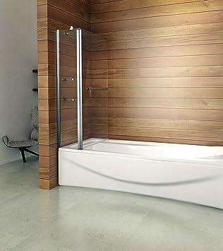 Drehen 180° Aufsatz Badewanne Duschwand Trennwand Duschabtrennung 120x140cm  B2S H12
