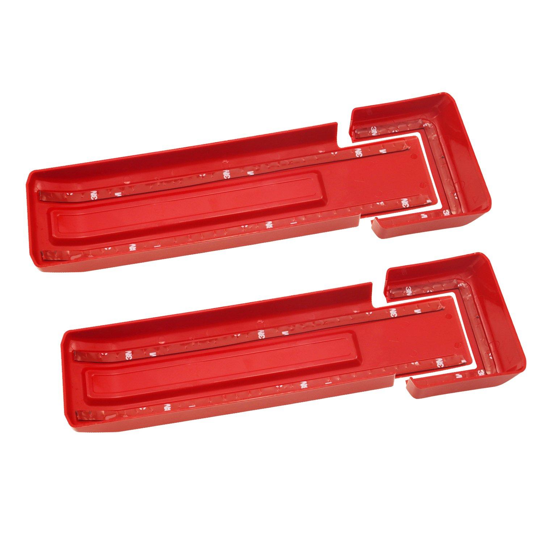 Red, Rear Upper Glass Door MOEBULB 2-Pack Tailgate Hinge Cover Rear Upper Glass Door Liftgate Hinge Cover Trim for 2007-2017 Jeep Wrangler JK /& Unlimited