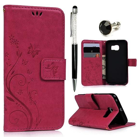 amazon com galaxy s6 edge case mavis\u0027s diary premium wallet