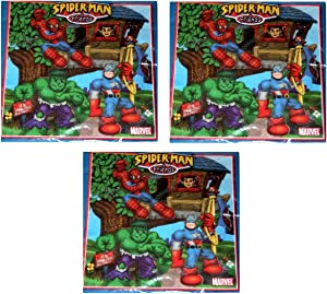 PARTY Marvel Spiderman and Friends Small Beverage Napkins - 48 Count