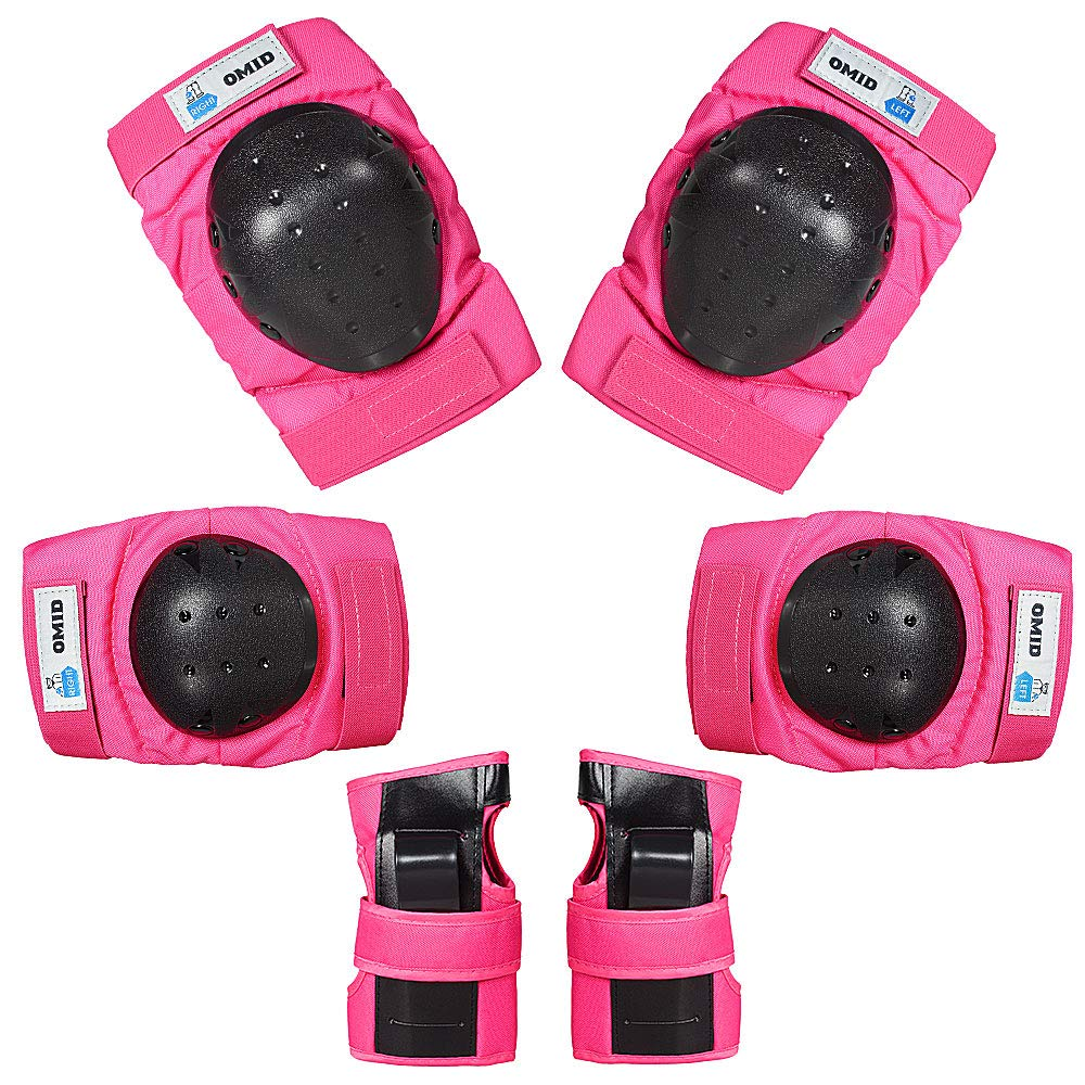 OMID Child Knee Pads Elbow Pads Wrist Guards 3 in 1 Protective Gear Set for Multi Sports Skateboarding Inline Roller Skating Cycling Biking, XXS Size