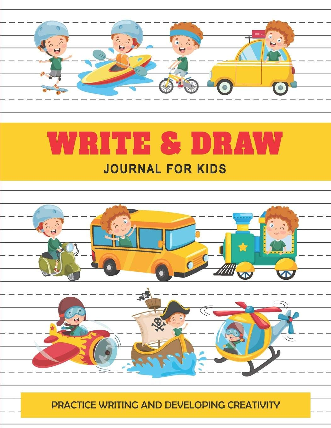 Write And Draw Journal For Kids Kids Transportation Collection