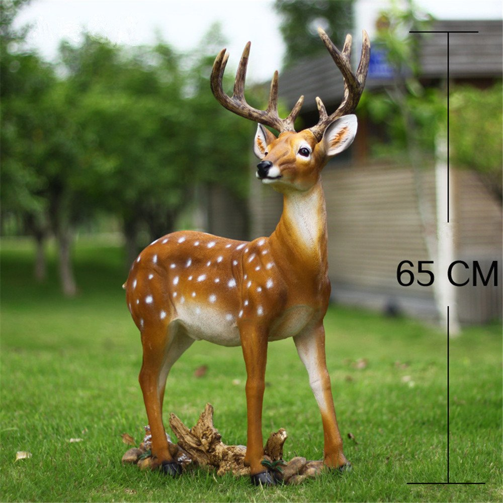 Danmu 1pc Polyresin Deer Statue Home Garden Decor (47 x 16 x 65cm)